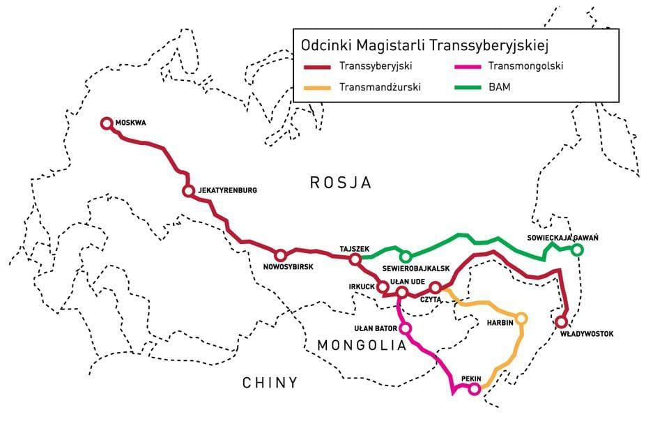 kolej transsyberyjska transy
