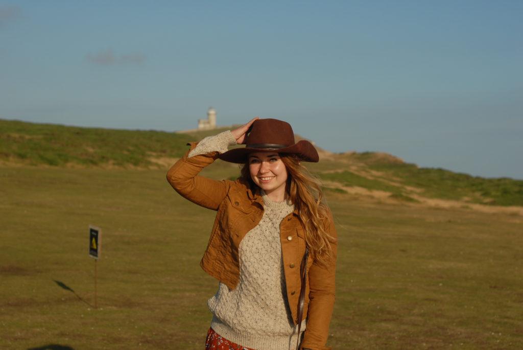 Birling Gap i Belle Tout Lighthouse, latarnia morska seven sisters, aglia, aran sweter