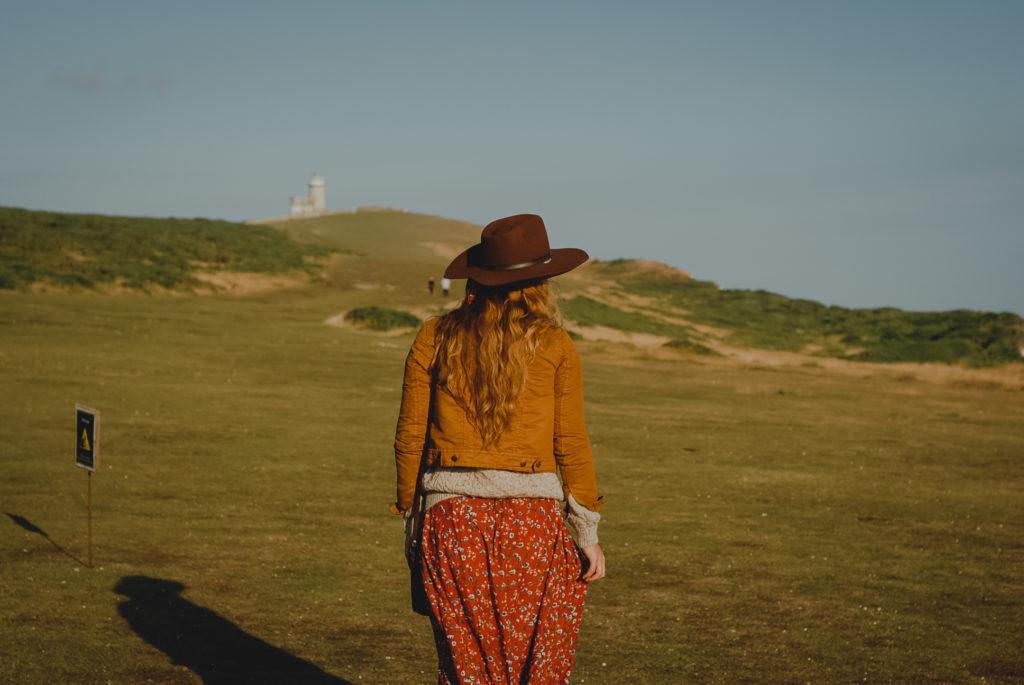 Birling Gap i Belle Tout Lighthouse, boho styl